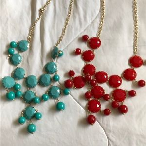 Two statement necklaces